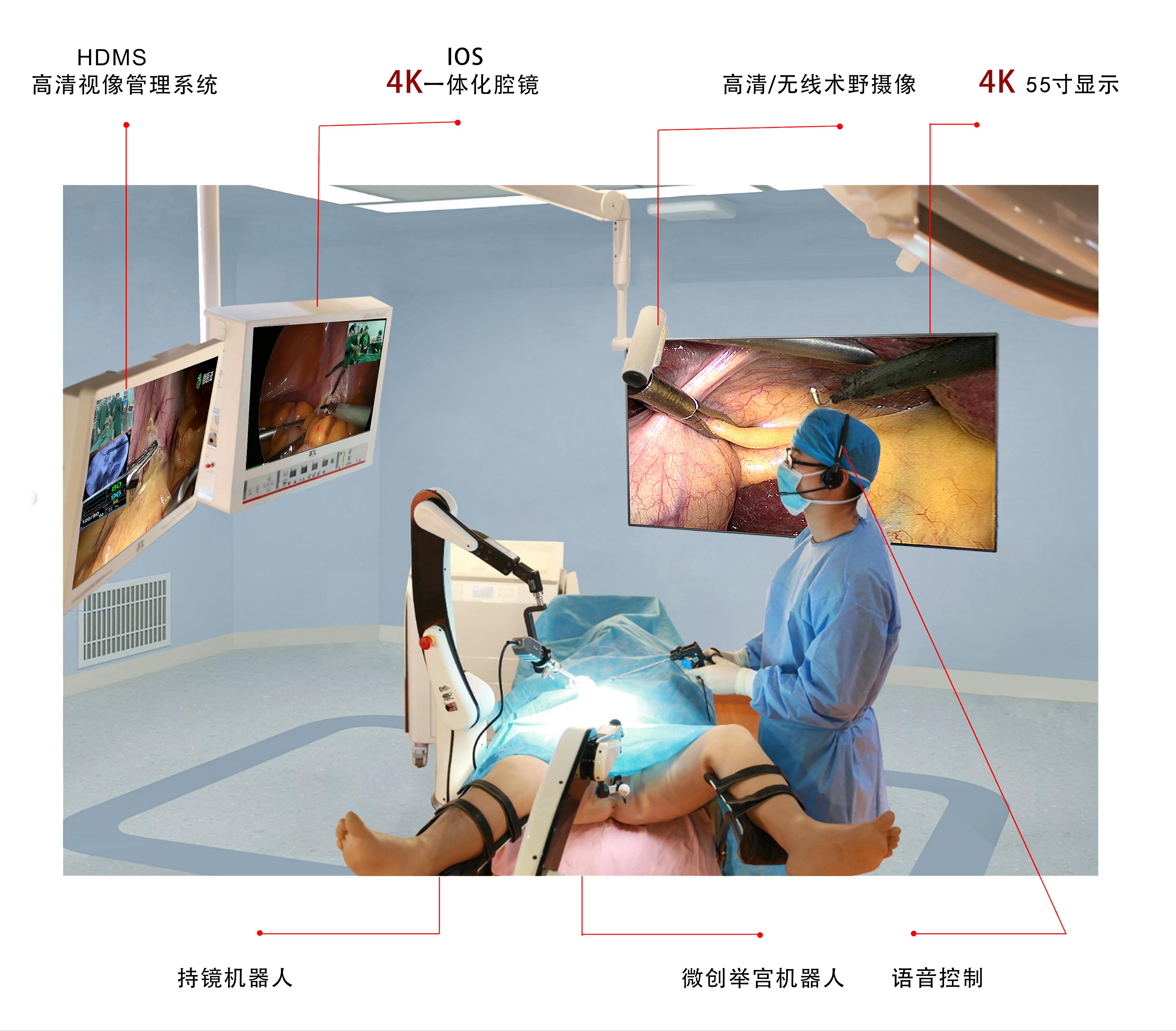 4K一体化机器人腔镜系统
